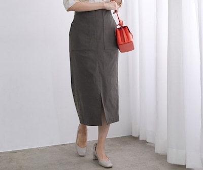 ROPE'ポケット付きストレッチタイトスカート