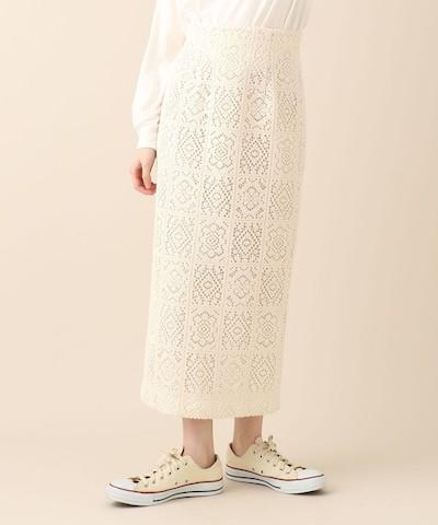 DEICYスクエアフラワータイトスカート