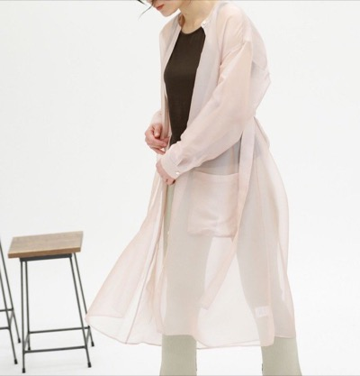 CAST:シースルーシャツドレス