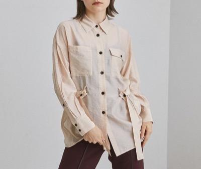 UNITED TOKYOルミナスオーガンバックスリットシャツ