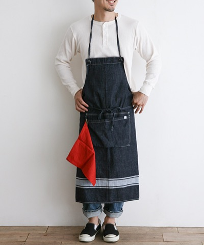 Simply PRINTED DENIM APRON (Long)