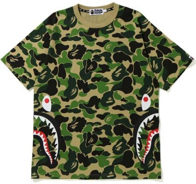 A BATHING APE ABC CAMO SIDE SHARK TEE MENS