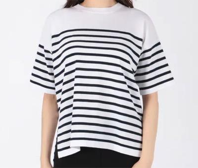 ENFOLD(エンフォルド)ウォッシャブルコットン ニットTシャツ