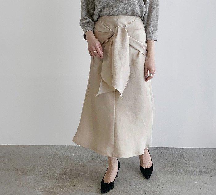 ROPE' mademoiselleフロントノットマーメイドスカート