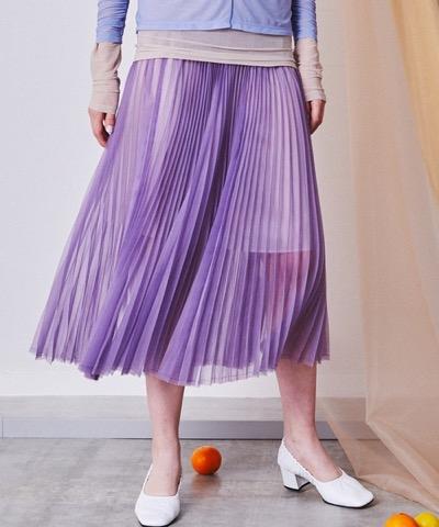MAISON SPECIAL(メゾンスペシャル)シアーオーガンジーロングプリーツスカート