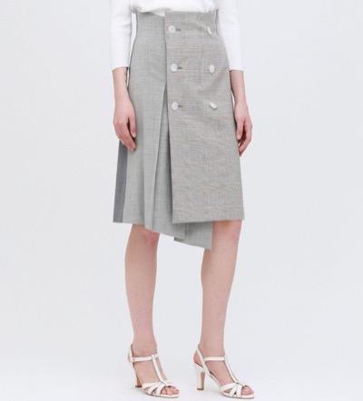 LOVELESS(ラブレス)チェックブロッキング ラップスカート
