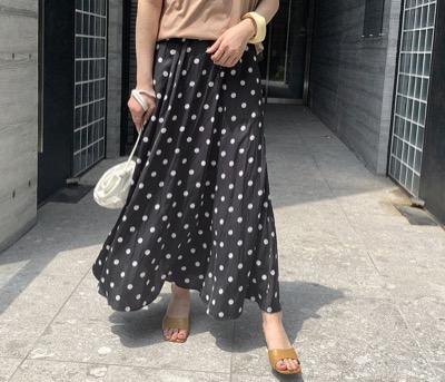 ROPE' mademoiselleマキシフレアスカート