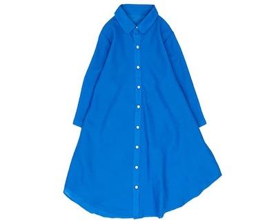 koibitomisakiリネンブラウス 7分袖 フリーサイズ Aラインチュニックシャツ