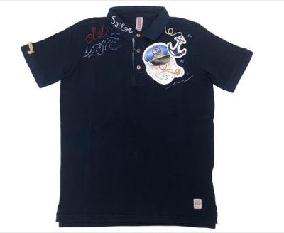 BOBパッチワーポロシャツ