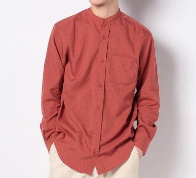 Melan Cleuge(メランクルージュ)エステルトロバンドカラーシャツ