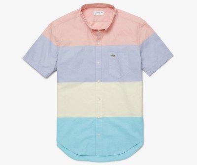 LACOSTE(ラコステ)カラーブロックデザインショートスリーブボタンダウンシャツ