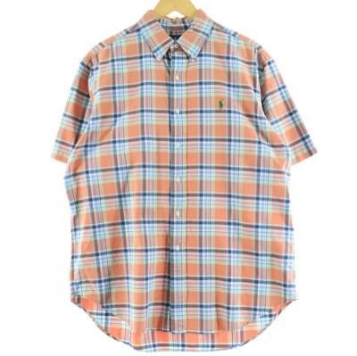 Ralph Lauren半袖 ボタンダウンチェックシャツ