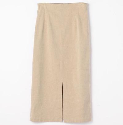 GALERIE VIEコットンリネンストレッチ Iラインスカート