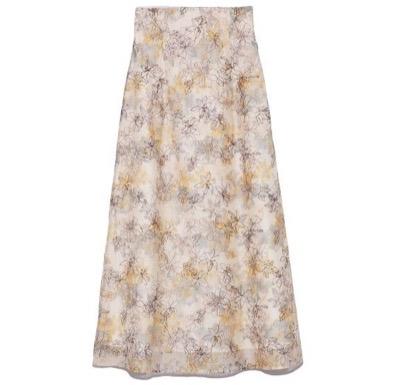 Lily Brown(リリーブラウン)ぼかし花柄刺繍スカート