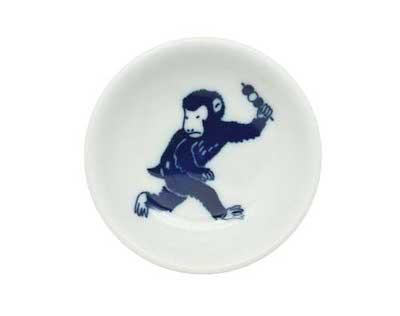 日日小紋豆皿112428猿