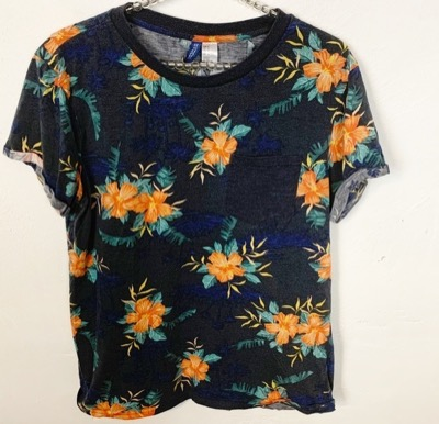 Divided l Floral Printed Mens T-shirt