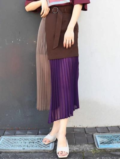 MURUA(ムルーア)レイヤードシアースカート