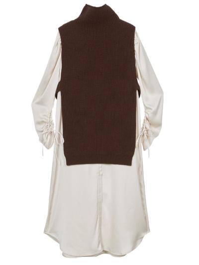 AMERI VEST LAYERED SHIRT DRESS