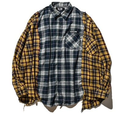 DUALISMMIX CHECK BIG SILHOUETTE OVER SHIRT 3