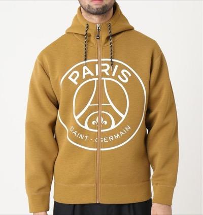 Paris Saint-Germainエンブレム ジップパーカー
