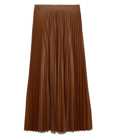 Mila Owen(ミラオーウェン)フェイクレザープリーツマキシスカート