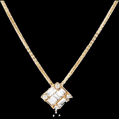 BELLESIORA K18YGダイヤモンドネックレス