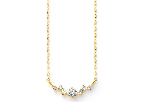 BLOOMK18 イエローゴールド ダイヤモンド ネックレス