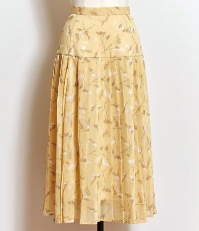 Noelaスターチスフラワープリーツスカート