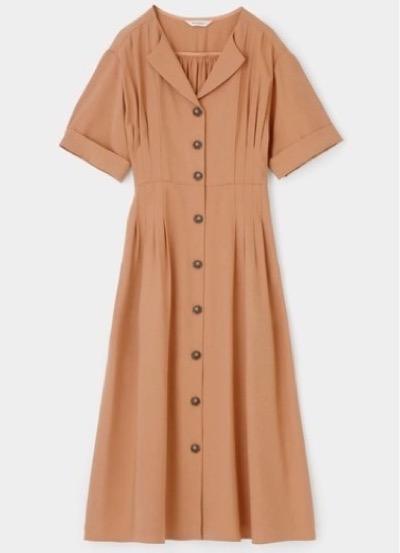 MOUSSYTUCK WAIST ハーフスリーブ シャツ ドレス