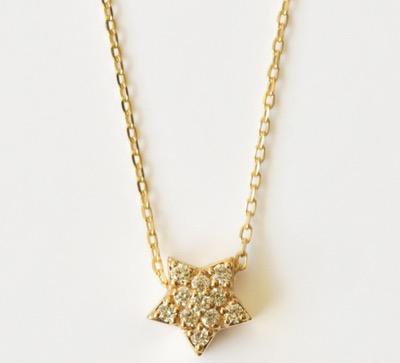 TAKE-UPK10ダイヤモンドパヴェスターネックレス(YG)
