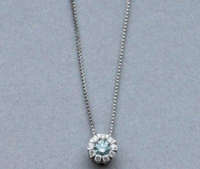 TAKE-UPプラチナアイスブルーダイヤモンドネックレス