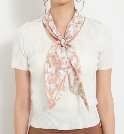 rienda(リエンダ)スカーフ付き2WAY TOP