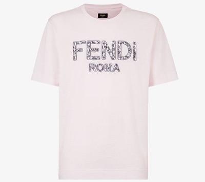 FENDIピンクコットン Tシャツ