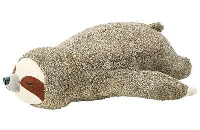 りぶはあと 寝そべり抱き枕 フラッフィーアニマルズ ナマケモノのノンノン