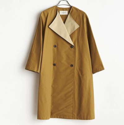 STELLA CIFFON 2020 AUTUMN COLLECTION C/N Grosgrain coat