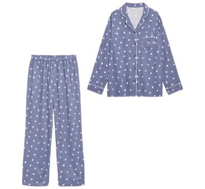 GUレーヨンツイルパジャマ(長袖)(ゴースト)