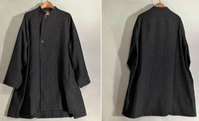 OUVERTwool washer stand collar coat