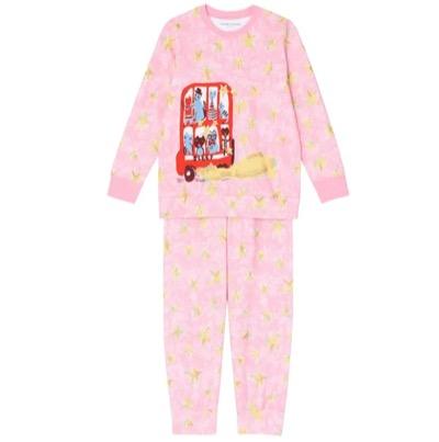 tsumori chisato SLEEPパジャマ ロング袖ロングパンツ ネコのバス柄
