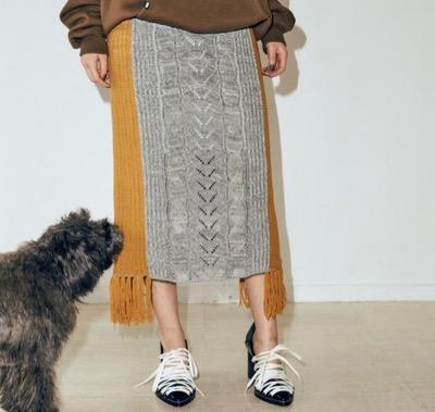 PAMEO POSE Odile Knit Skirt