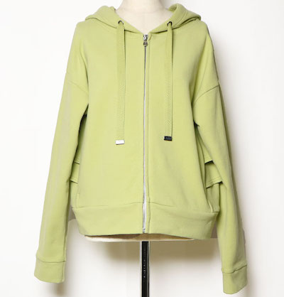 AULA AILABACK FRILL ZIP HOODIE