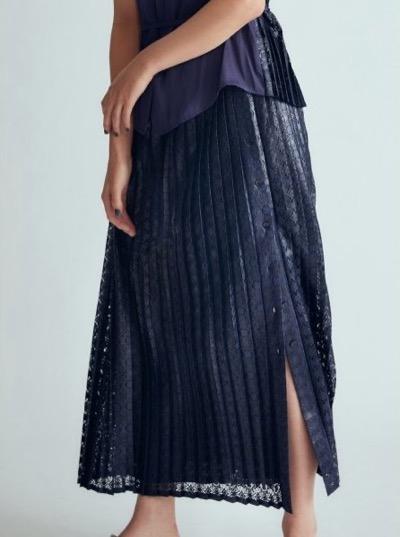 Lily Brown(リリー ブラウン)レースドッキングスカート
