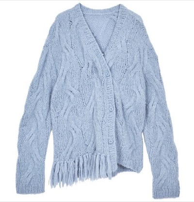 AMERI 2WAY DISTORTION CABLE CARDIGAN