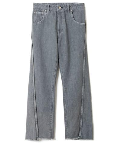 sodukoverlapping denim trousers