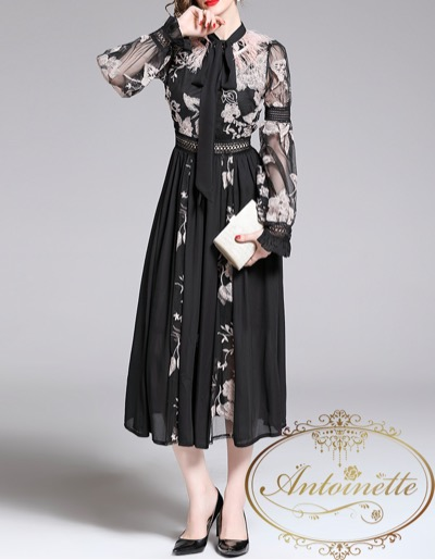 Antoinette Black party dress luxury