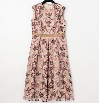 GRACE CONTINENTALオーナメントチュール刺繍ドレス