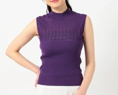TOCCA【TOCCA LAVENDER】Lace Knit Pullover トップス