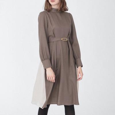 LOVELESSハイネック ドレープ ドレス