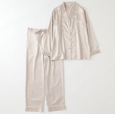 TERRITOIREストレッチサテンパジャマ 上下セット