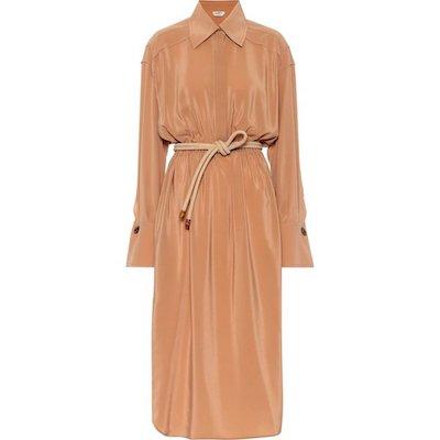 FENDI(フェンディ)Silk midi shirt dress(シャツワンピースドレス)