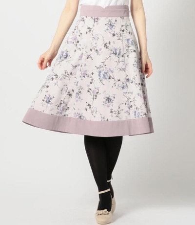 MISCH MASCH(ミッシュマッシュ)フロッキー花柄スカート